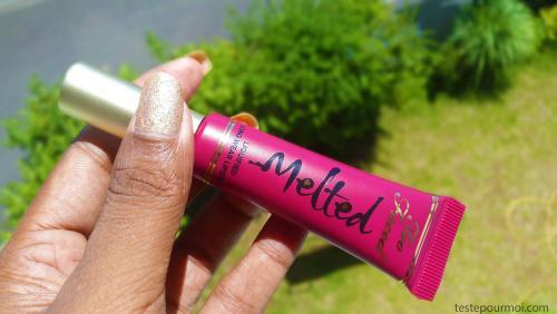 Mon avis sur les rouges à lèvres Melted de Too Faced