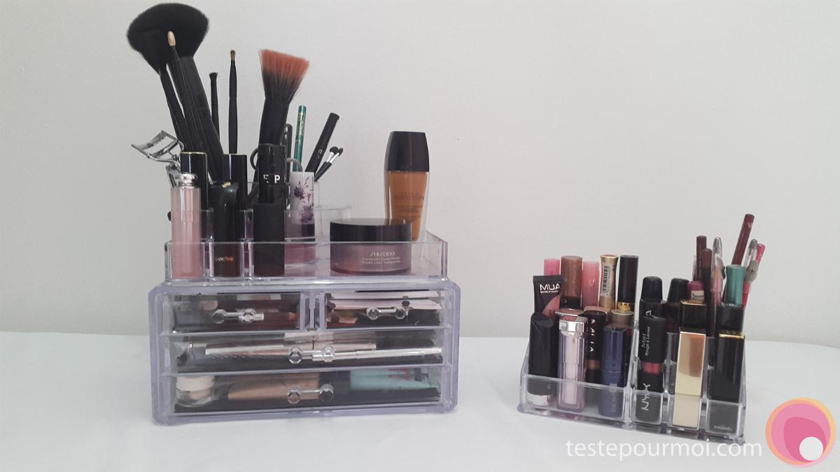Les rangements en acrylique ou plexiglas transparent pour - Rangement maquillage acrylique ...